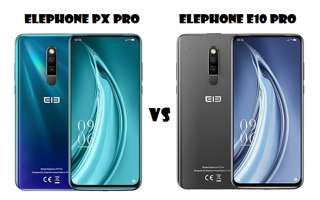 ElePhone PX Pro VS ElePhone E10 Pro Smartphone