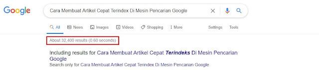 5 Cara Membuat Artikel Cepat Terindex Di Mesin Pencarian Google