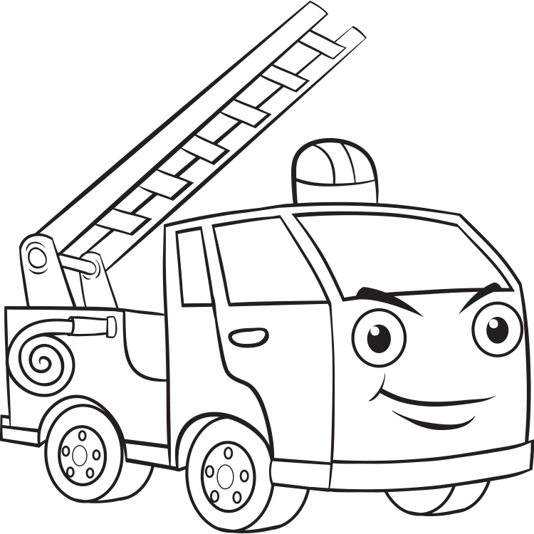 Mewarnai Gambar Mobil Pemadam Kebakaran Aneka Mewarnai Gambar