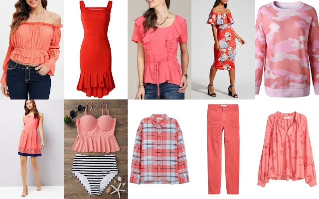 clothes cheap  in coral shades
