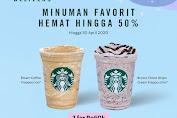 Promo Starbuks Paket Minuman Favorit Diskon 50% Via GoFood dan GrabFood