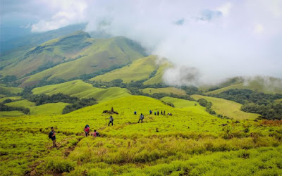 Trekking on Kudremukh peak