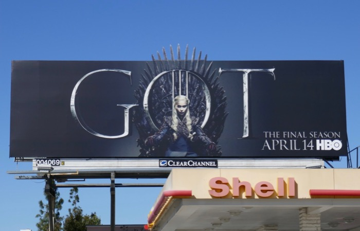 Game of Thrones season 8 Daenerys billboard