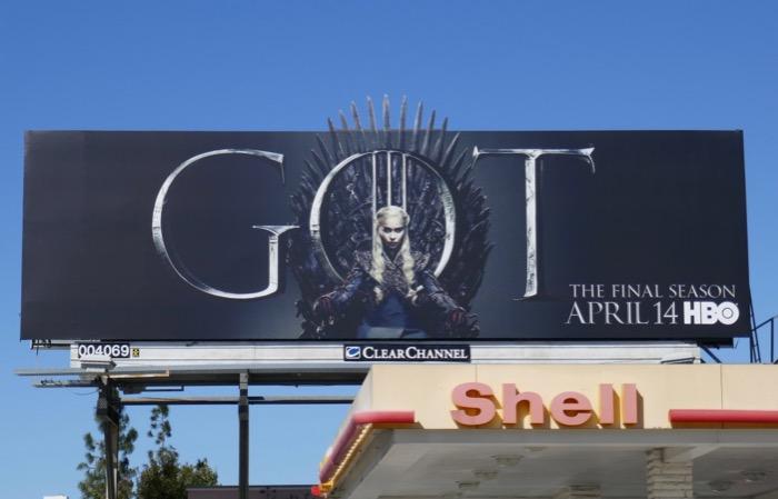 Game of Thrones season 8 Daenerys billboard