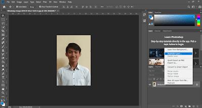 edit foto menjadi pas foto dari kamera hp