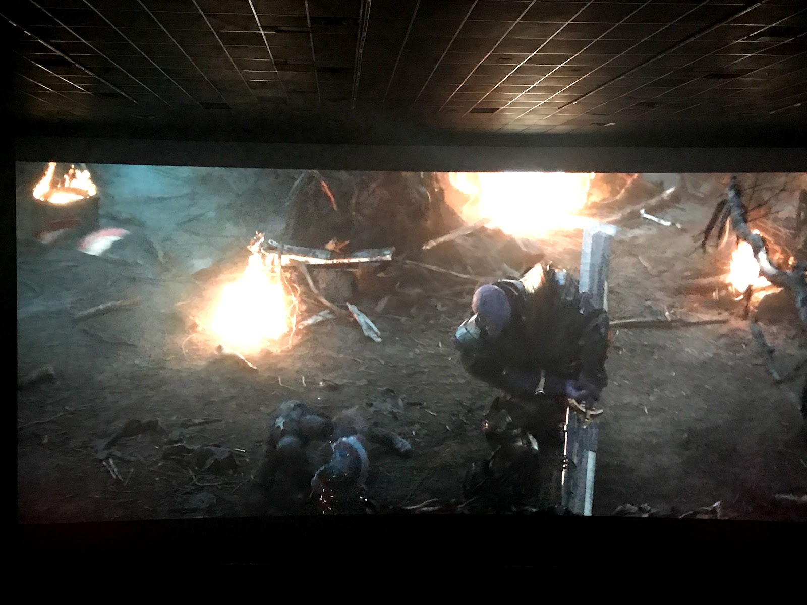 Image: Picture taken at the movies of Avengers Endgame shown on Bits and Babbles Blog