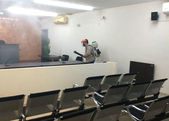 Desinfecta el Poder Judicial sus 13 edificios, para prevenir contagios del COVID-19