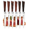 Tyrellex Steak Knives | Premium Steak Knife Set (6 Pieces and Wood Gift Box)