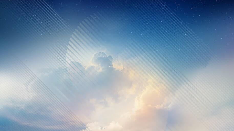 Sky, Clouds, Abstract, Digital Art, 4K, #4.327