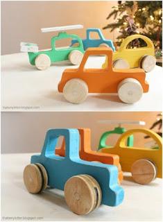 DIY mainan mobil mobilan