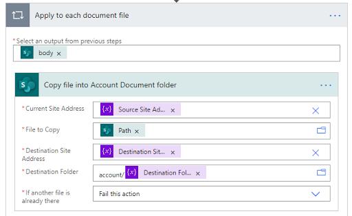 15. Copy file into Account Document folder