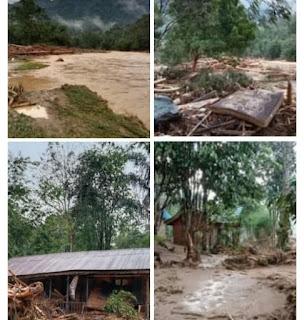 Banjir Bandang Melanda Kawasan Wisata Landa River Bahorok Langkat