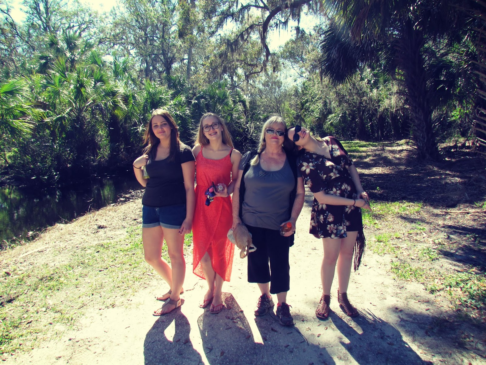 Hammock Park in Dunedin, Florida With Three Beautiful Girls and Their Grandmother