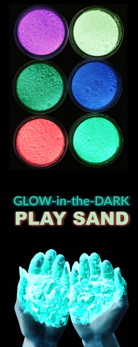 MAKE YOUR OWN GLOW SAND. What? This is too fun!  My kids are going to flip!