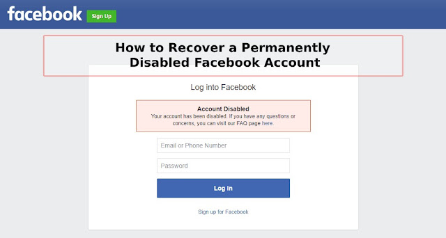 How To Recover A Permanently Disabled Facebook Account?