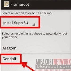 Instal Aragorn atau Gandalf