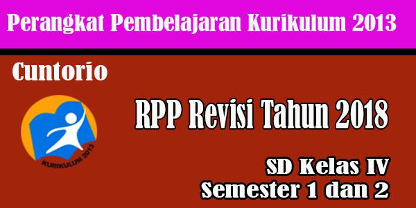 RPP K13 Kelas 4 SD MI Revisi 2018