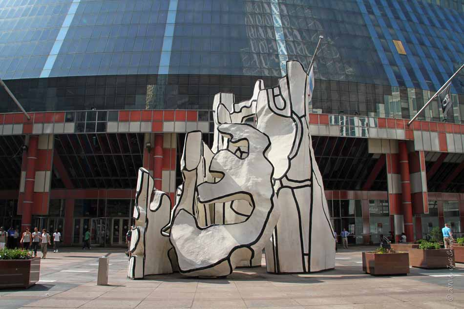 Thompson Center Monument With Standing Beast By Jean Dubuffet