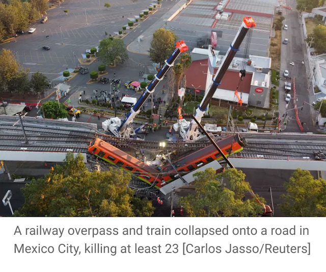 Mexico begins full investigation into terrible orange metro train collapse