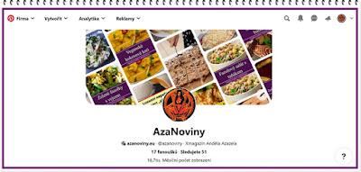 Pinterest - Firemní profil AzaNovin