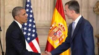 Obama concluyó este domingo por la noche su visita oficial a España y en el vuelo de regreso ha charlado con el Jefe del Estado, una conversación telefónica en la que el presidente de EE.UU. ha agradecido a todas las autoridades españolas y al pueblo español el trato recibido durante toda su visita.
