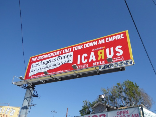 Consider Icarus documentary took down an empire billboard