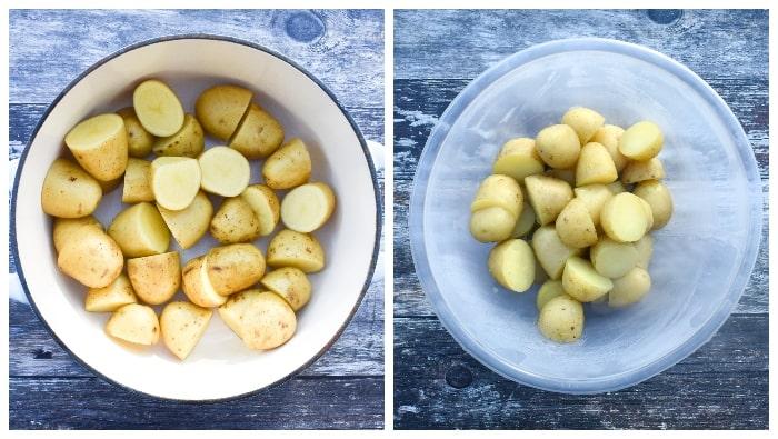 Balti Potato Bake - step 1 - preparing the potatoes
