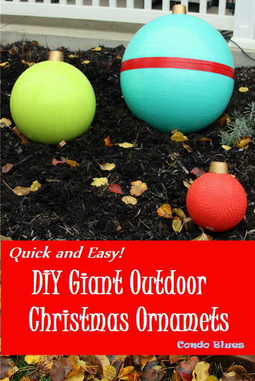 how to make quick and easy exercise ball christmas ornaments - Giant Outdoor Christmas Decorations
