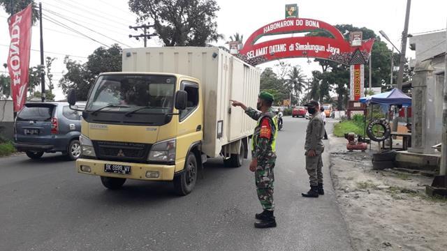 Pos Pam Ketupat Simpang Sambu Dan Gakplin Dilaksanakan Personel Jajaran Kodim 0207/Simalungun