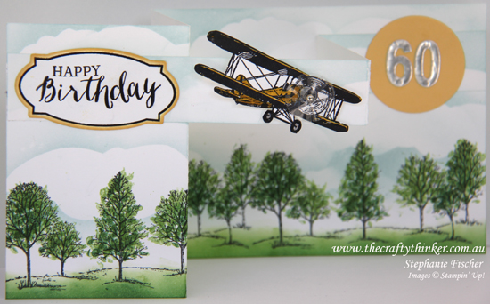 Stampin Up, #thecraftythinker, Double Z Fold, Masculine card, Lovely As a Tree, Sky Is The Limit, Stampin Up Australia Demonstrator