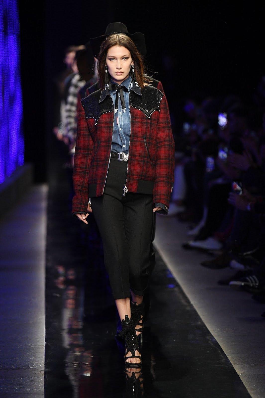 Bella Hadid At Dsquared2 Fashion Show In Milan Mens Fashion Week