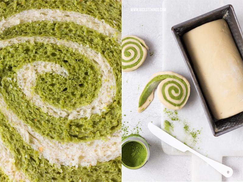 Matcha Wirbel Kuchen Matcha Swirl Cake mit Thermomix Rezept