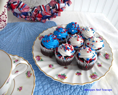 Antiques And Teacups: Red White And Blue Lingers...