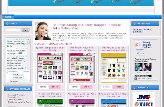 template online store blogspot