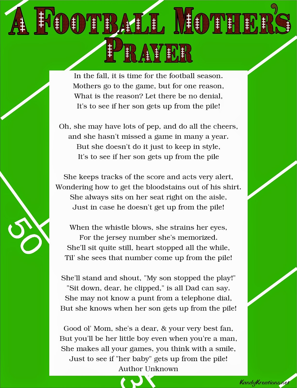 A Football Mother S Prayer Poem Free Printable Diy Party Mom Plagues & prayers is a free tactical game with a sick sense of humour. diy party mom