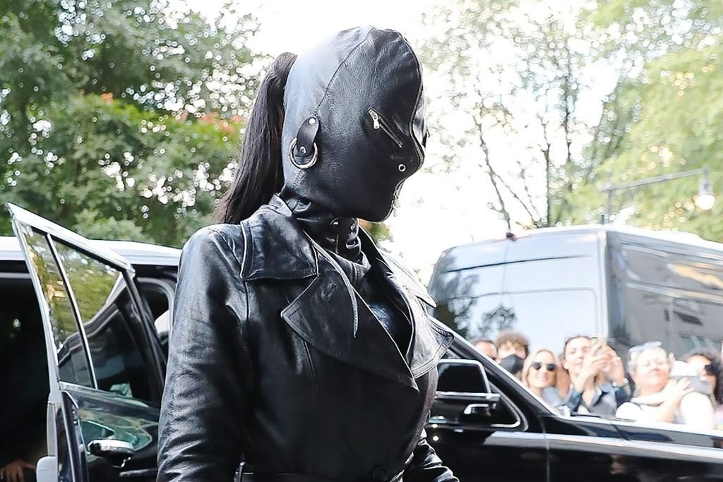 Kim Kardashian stepped out in this all leather look for NYFW