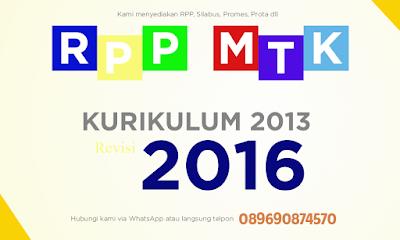 RPP Matematik SMA/MA Kurikulum 2013 Revisi 2016