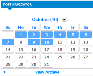 Arhcives Calendar for blogger
