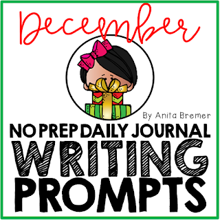 No Prep Daily Journal Writing Prompts for December! This pack includes writing stationery paper for the month of December. It is packed with prompts that will help kids generate LOTS of ideas what to write about. It also includes several seasonal acrostic poetry options. Create a monthly writing portfolio for each student!K-3 #journals #writingprompts #writing #kindergartenwriting #1stwriting #2ndwriting #Christmas #education #noprep
