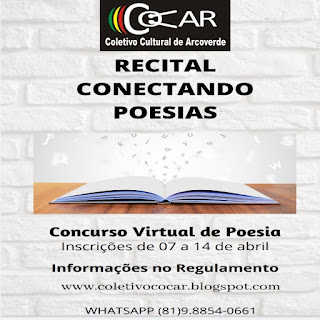 COCAR LANÇA CONCURSO VIRTUAL DE POESIA