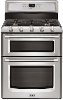 6.0 TOTAL CU. FT. GEMINI DOUBLE OVEN GAS STOVE WITH EVENAIR CONVECTION