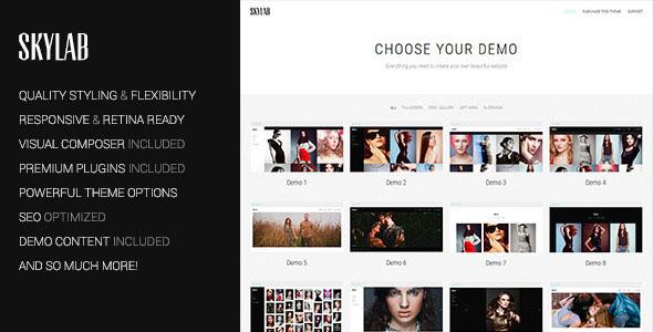 Skylab v2.1.0 – Portfolio / Photography WordPress Theme