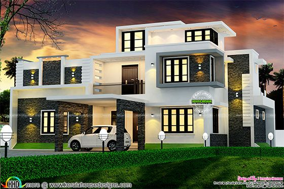 Modern box type 2700 sq-ft home