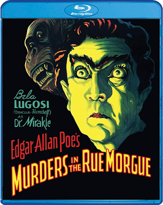 Bluray cover for Scream Factory's MURDERS IN THE RUE MORGUE!