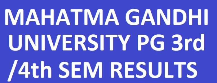 MGU PG 3rd/4th sem Reg/Supply Results