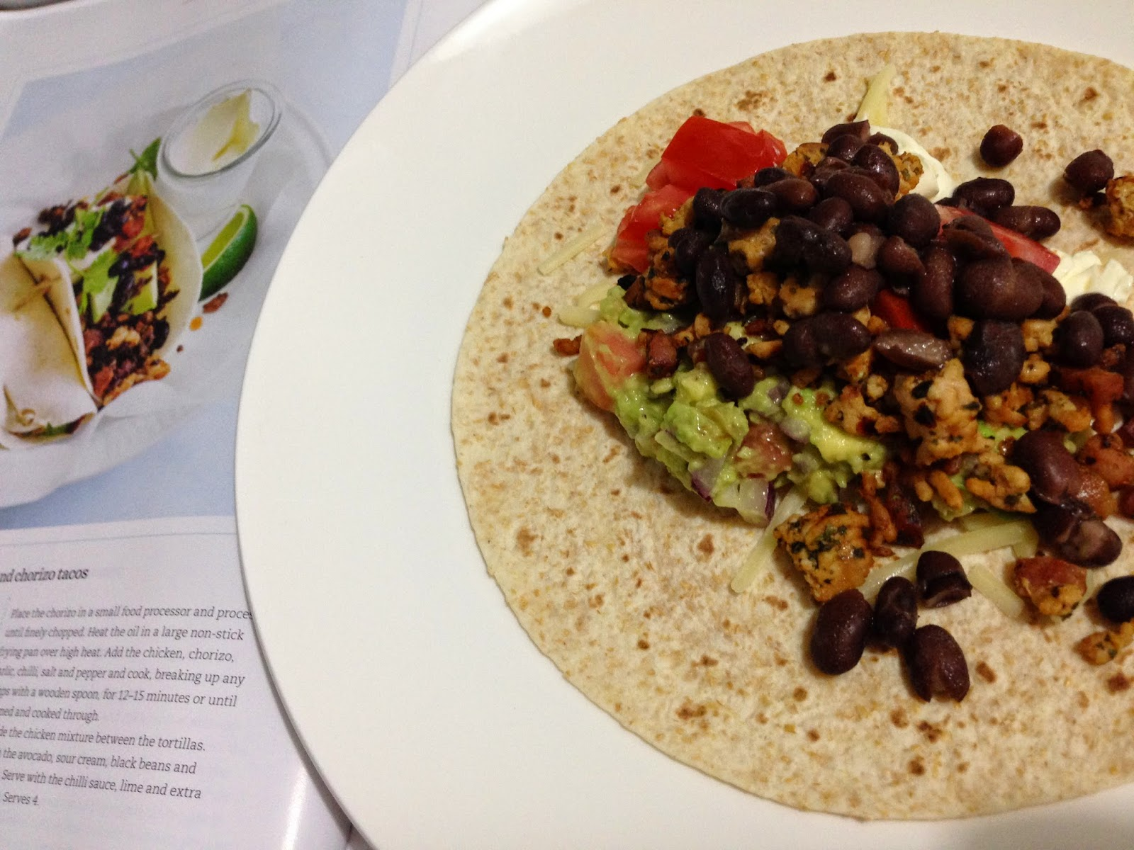 Turkey & Chorizo Burritos inspired by Donna Hay.