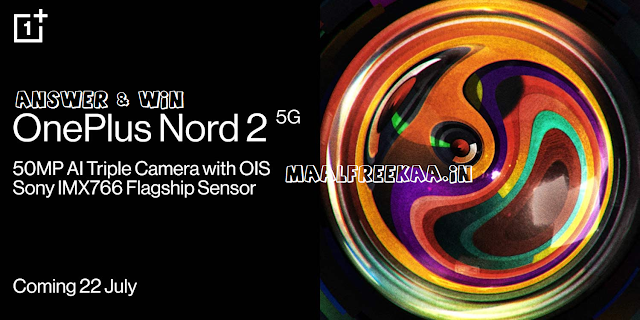 OnePlus Nord 2 5G Get FREE