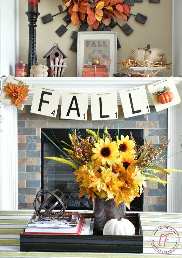 DIY Oversized Scrabble Tile Fall Banner