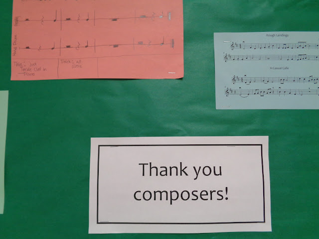thankful for writing bulletin board composers elementary orchestra