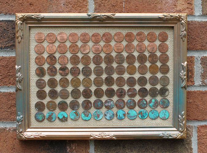 Ombre penny art